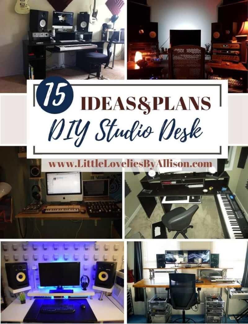 15 DIY Studio Desk Plans How To Build A Studio Desk