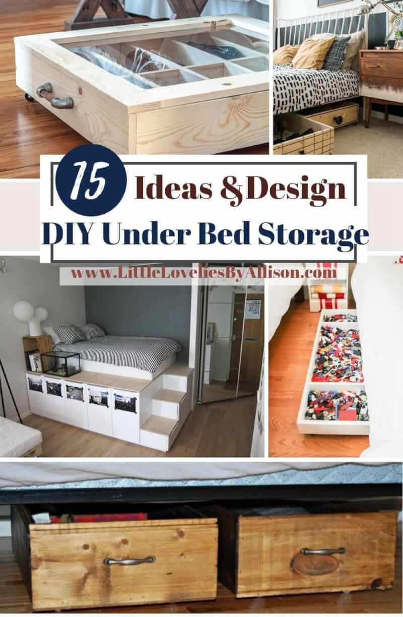 15 DIY Under Bed Storage Ideas For Organizing Your Stuff
