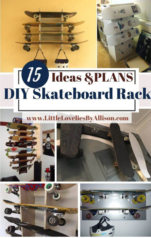 15 Homemade DIY Skateboard Rack Hacks You Can Diy Easily