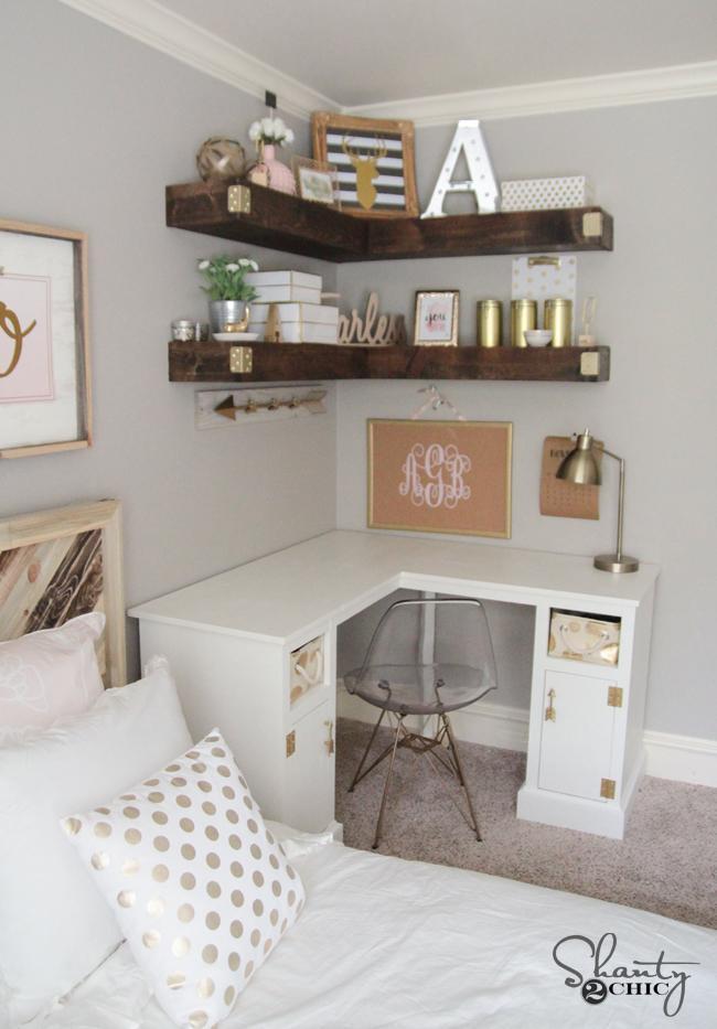 15. DIY Corner Shelf Idea