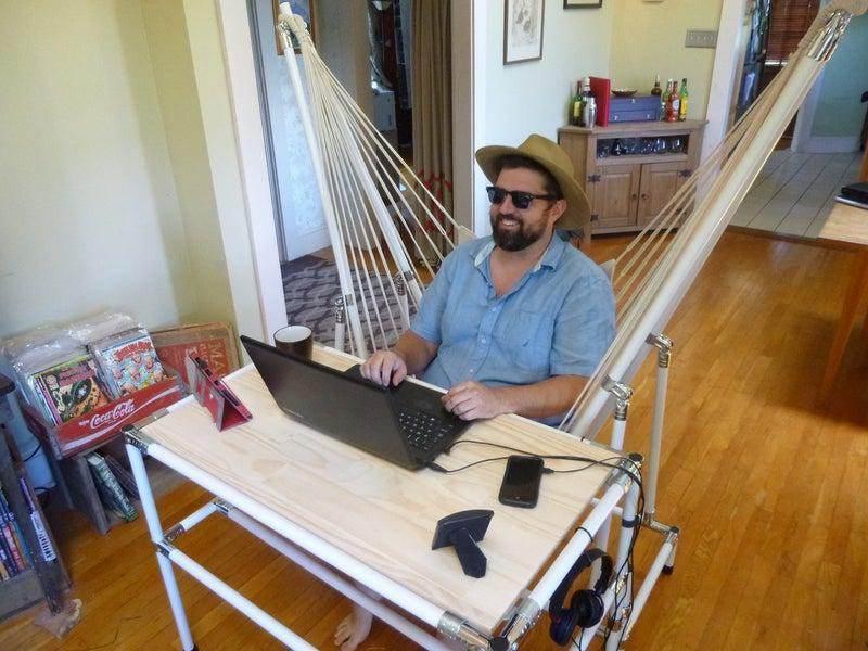 15. DIY Hammock Desk