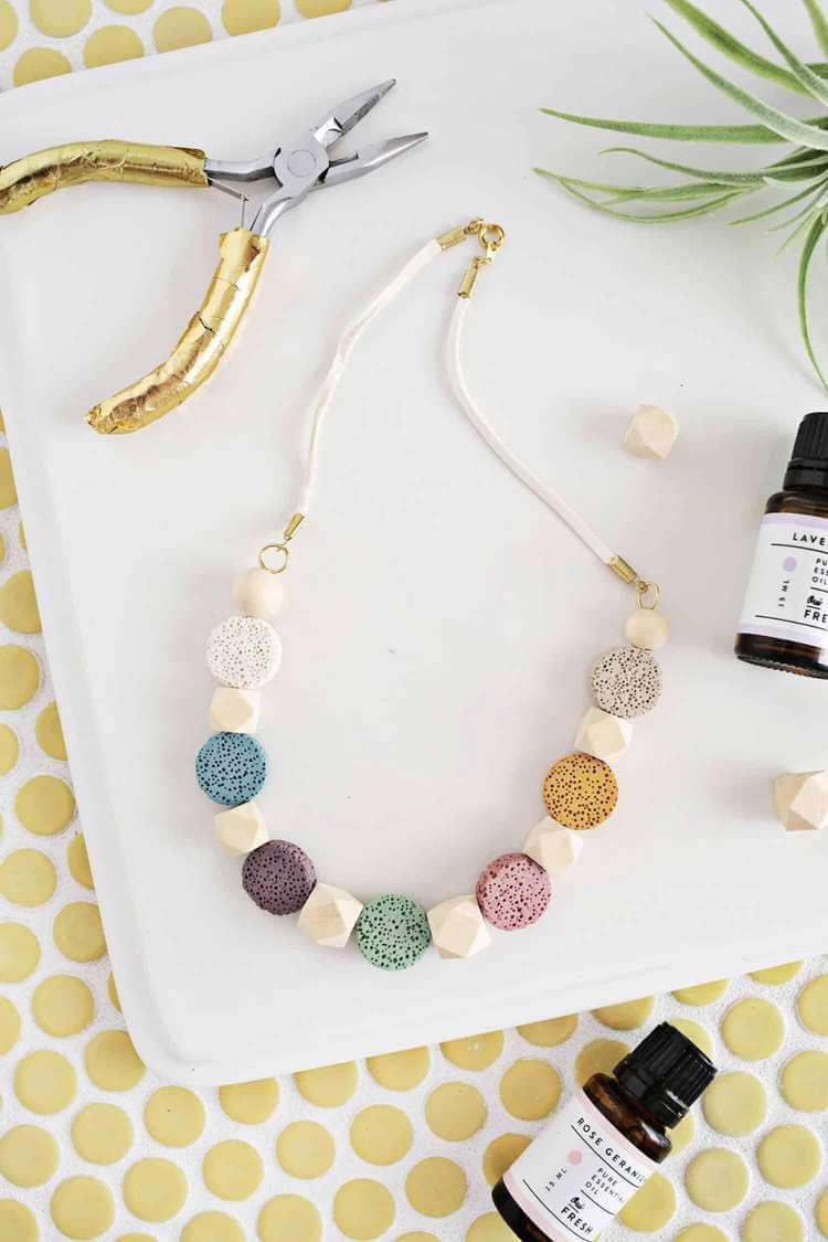 15. DIY Lava Stone Necklace