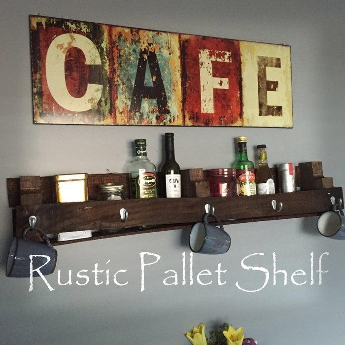 15. DIY Scrap Wood Shelf