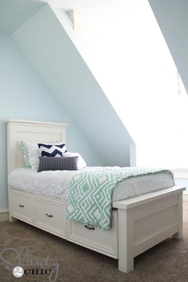 15. DIY Twin Storage Bed