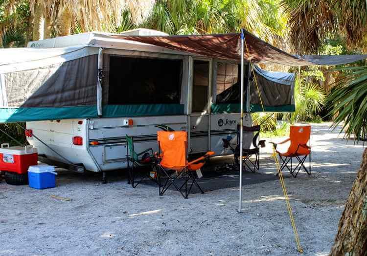15. DIY awning for camping