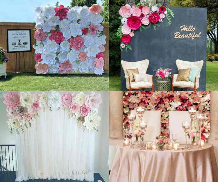 15. Flower Wall Backdrop