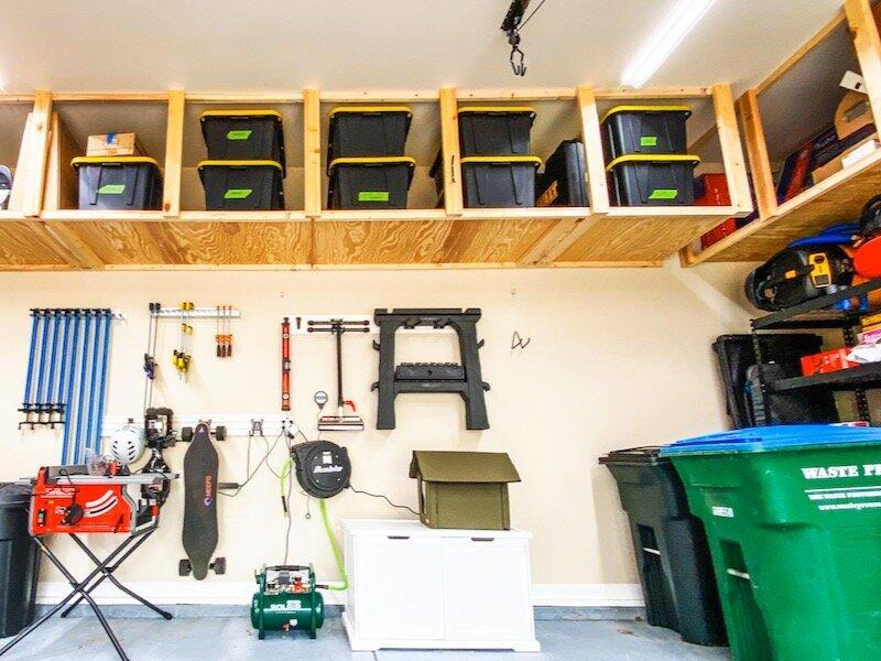 15. How To Build DIY Garage Storage Shelves