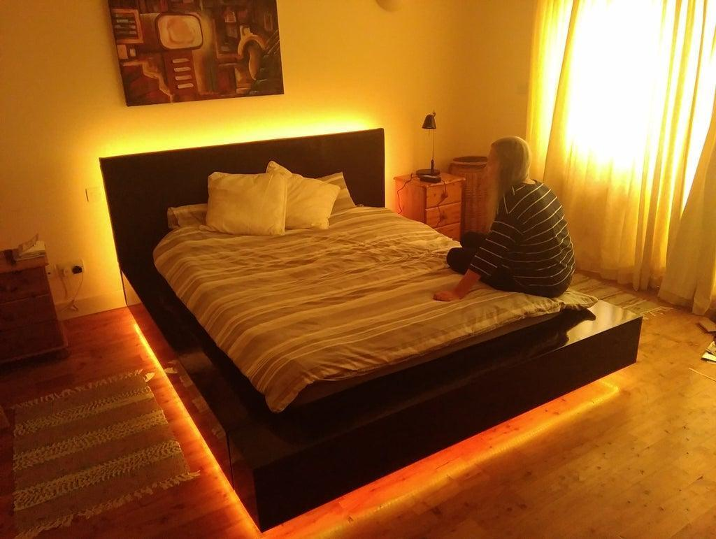 15. Large Floating Bed DIY