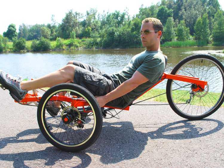 15. Tadpole recumbent bike