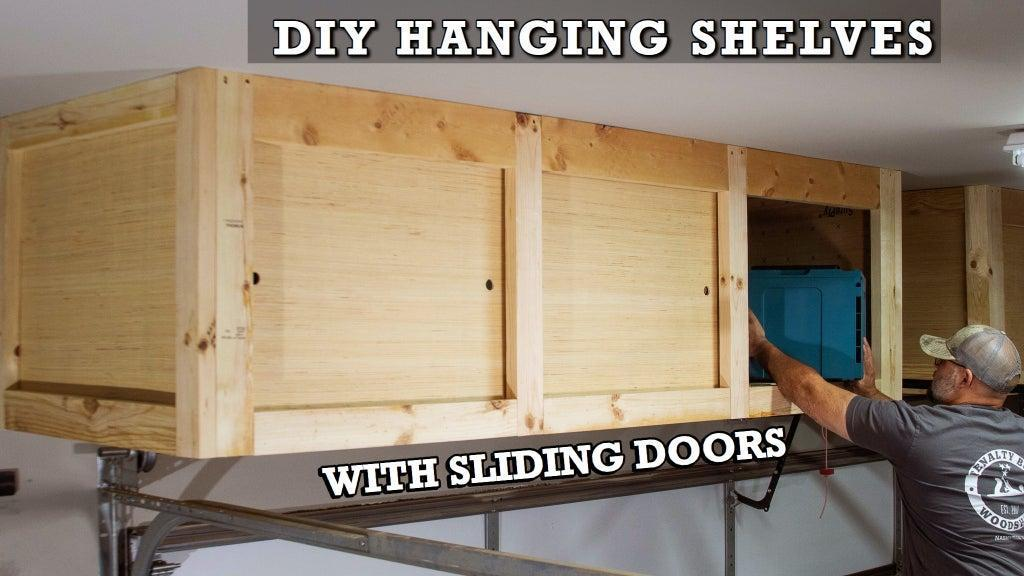 16. DIY Hanging Shelves For Garage