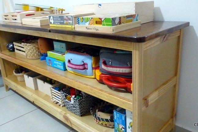 16. DIY Kids Storage Cabinet