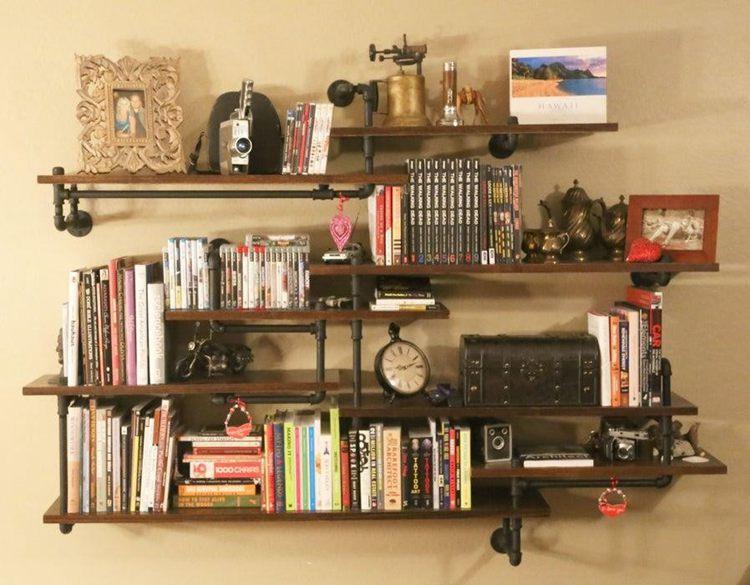 16. DIY Pipe Shelves