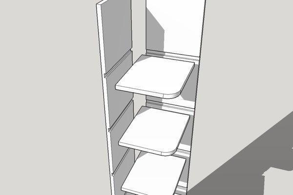 16. DIY Simple Corner Shelf