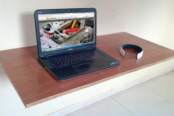 16. DIY Wall Mounted Fold Out Desk