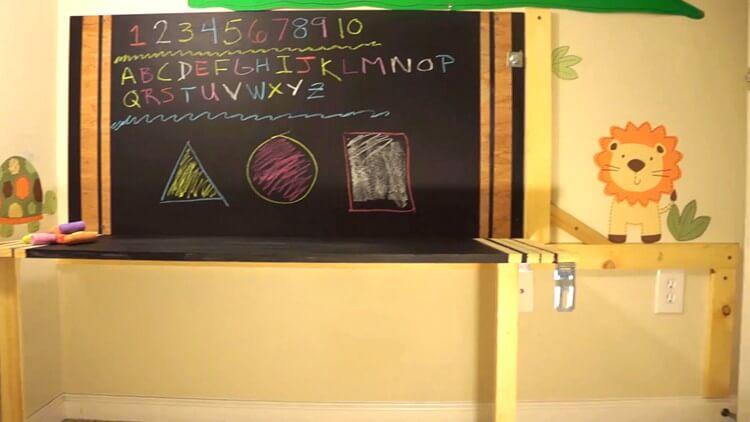 16. DIY kids Fold Up Desk