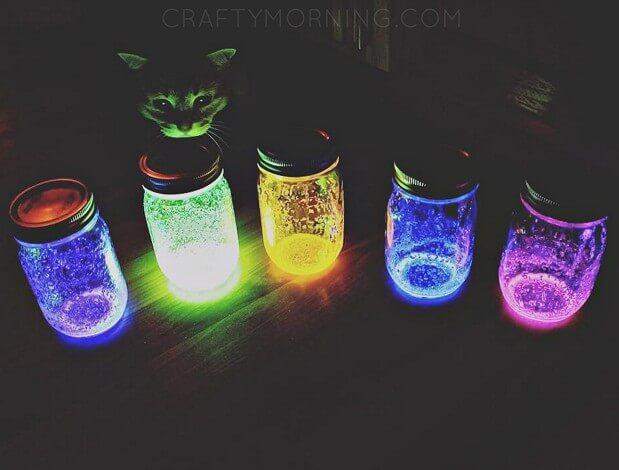 16. How To Make Glow Stick Jars