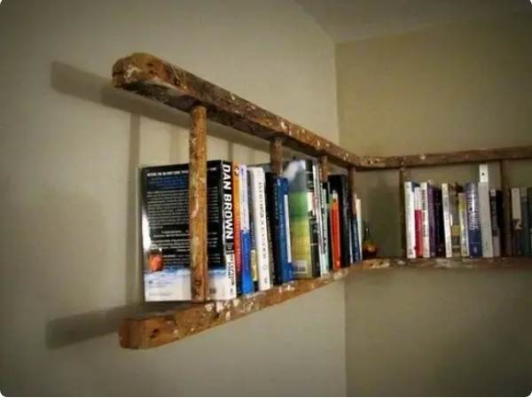 16. Repurposed Ladder Shelf