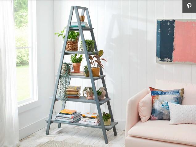 17. DIY A-Frame Ladder Shelf