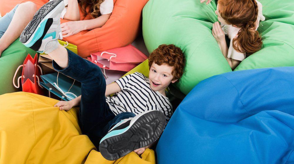 17. DIY Bean Bag Chair For Kids