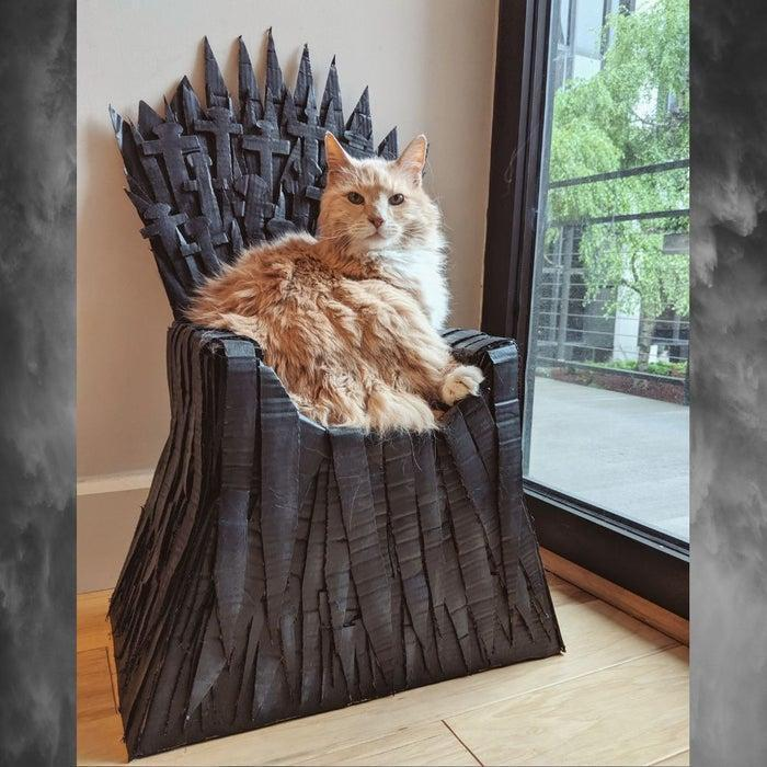 17. DIY Iron Throne Cat Bed