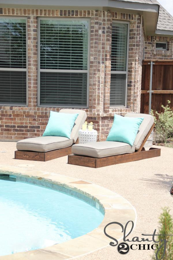 17. DIY Outdoor Lounge Chair