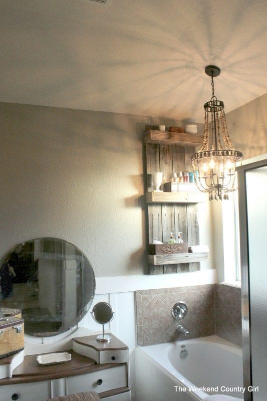 17. DIY Rustic Bathroom Shelves