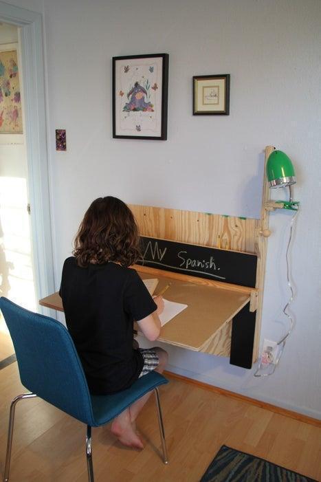 17. DIY Wall Desk