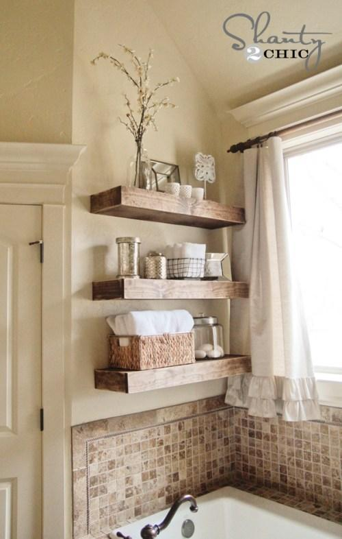 17. Easy DIY Floating Shelves