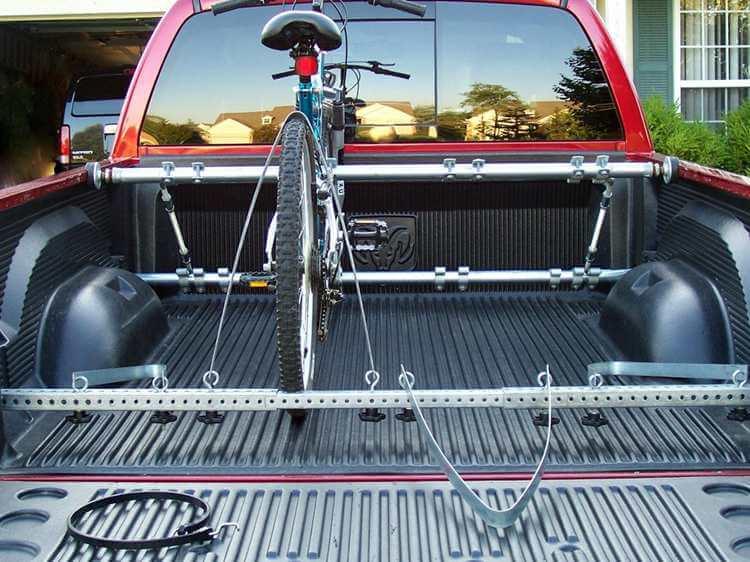 17. Fence post bike rack