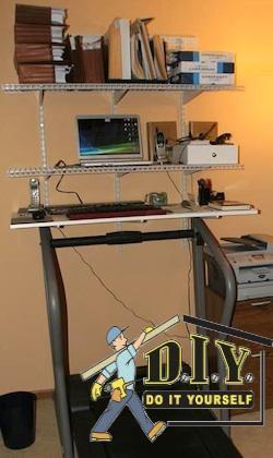 17. Homemade Treadmill Desk Plans DIY
