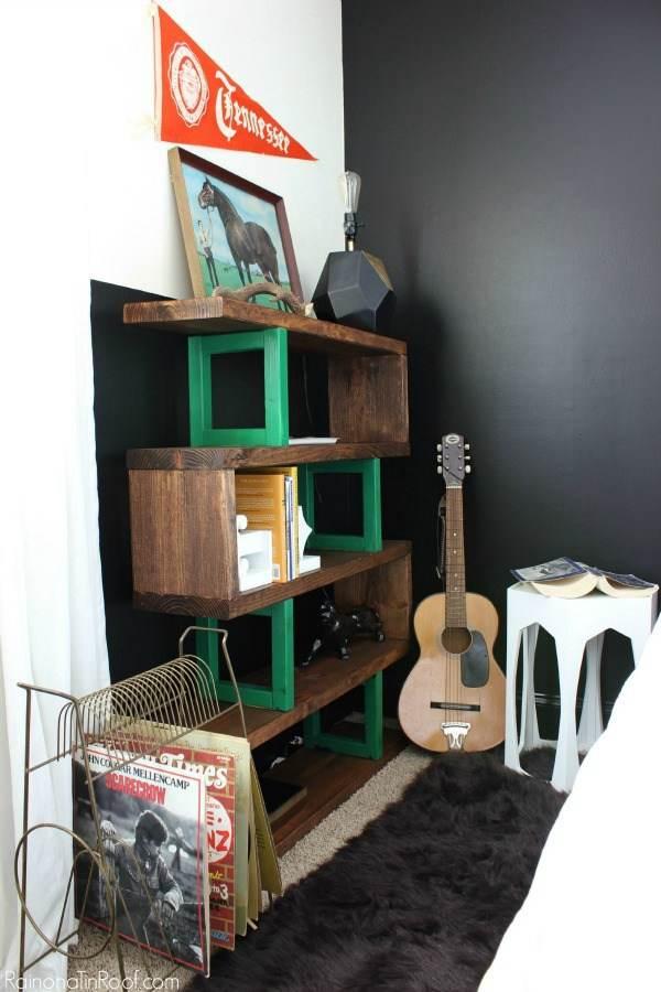 17. Modern Rustic Bookshelf