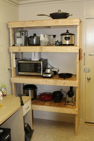 18. DIY Cheap Storage Shelves