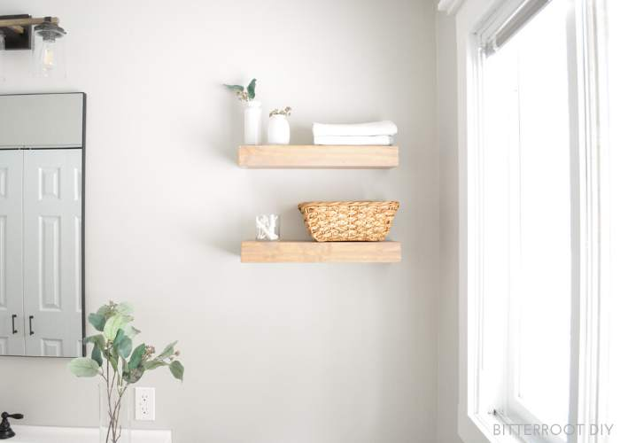 18. DIY Floating Shelves For Easy Storage