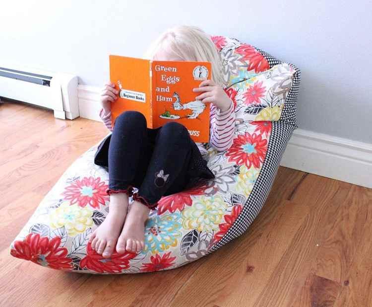 18. DIY Kids Bean Bag Chair
