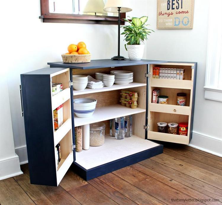 18. DIY Kitchen Pantry Cabinet