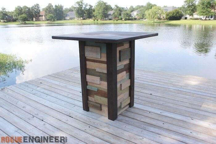 18. DIY Modern Reclaimed Pub Table