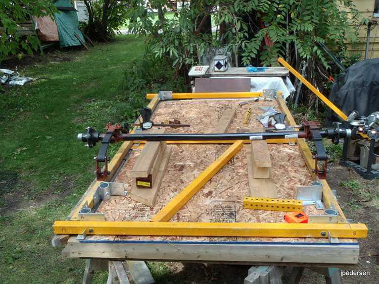 18. Homemade trailer made with bolts