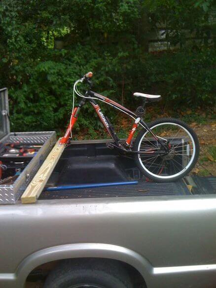 18. Simple bike rack