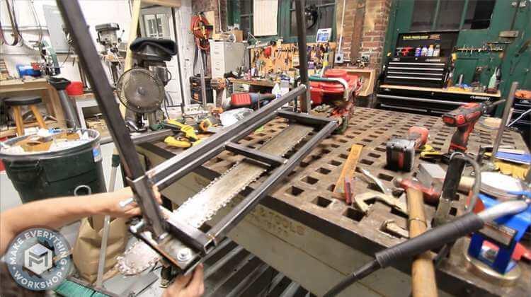 19. DIY $25 Chainsaw Mill