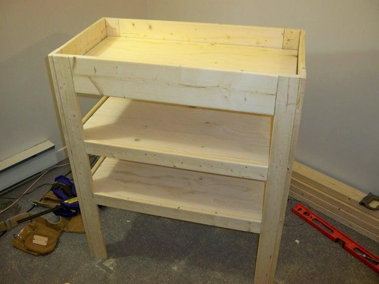 19. DIY Baby Change Table With Storage Shelves