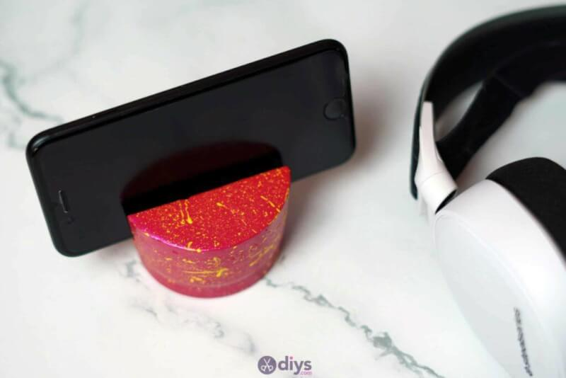 19. DIY Concrete Phone Holder