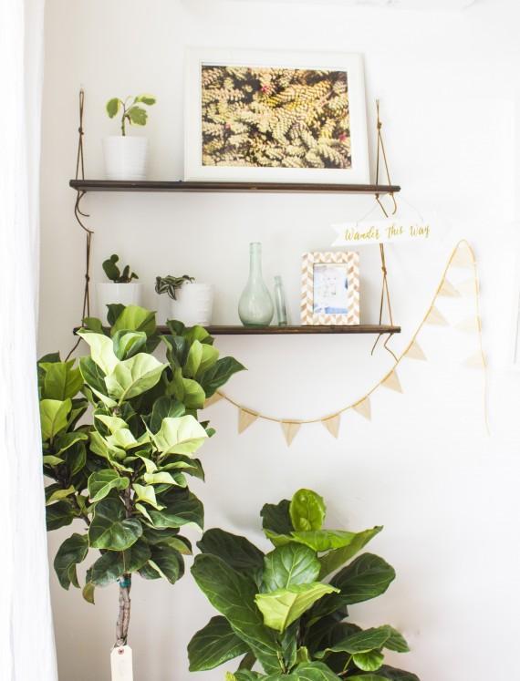 19. DIY Hanging Shelves