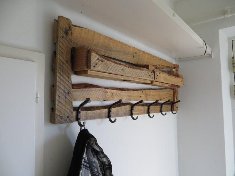 19. DIY Pallet Coat Rack