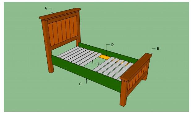 19. DIY Twin Bed Frame Plans