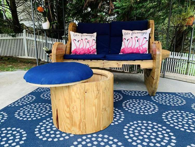 19. DIY Upcycled Ottoman With Storage