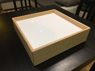 19. Homemade Light Table