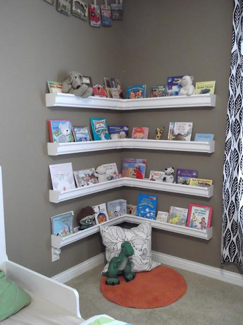 19. Wide Floating Bookshelf