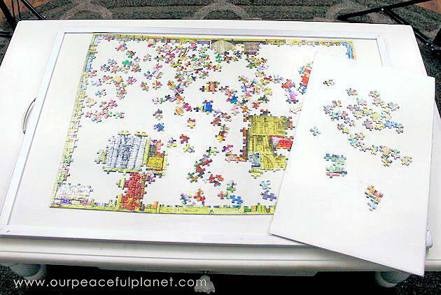2. DIY Jigsaw Puzzle Board