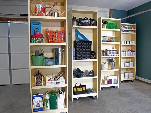 2. DIY Rolling Storage Shelves