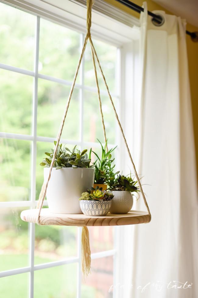 2. DIY Round Hanging Shelf